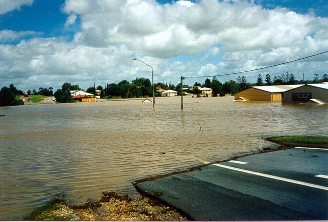 Ueberschwemmung in Gympy Queensland